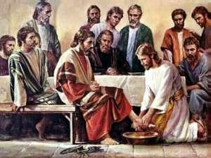 Yesus membasuh kaki Murid-Muridnya